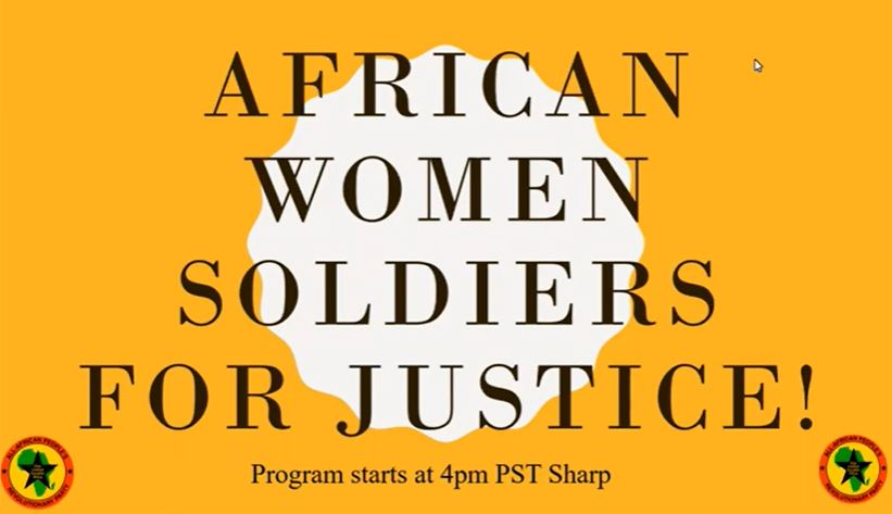 African Women Soldiers for Justice! (VIDEO WEBINAR)